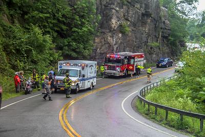 7-22-18 MVA With Injuries, Bear Mounain Bridge,  Photos By Bob Rimm