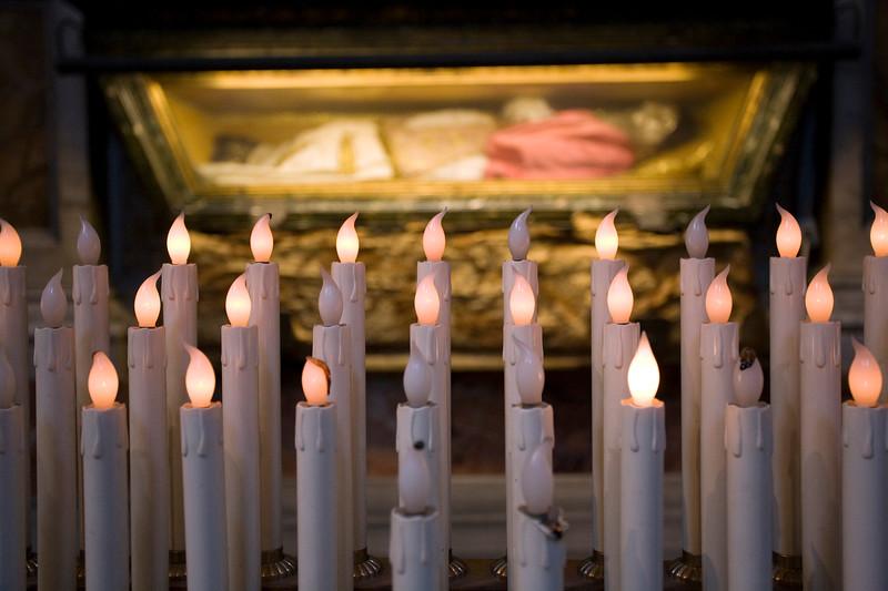 Saint Pius V body, Santa Maria Maggiore basilica, Rome
