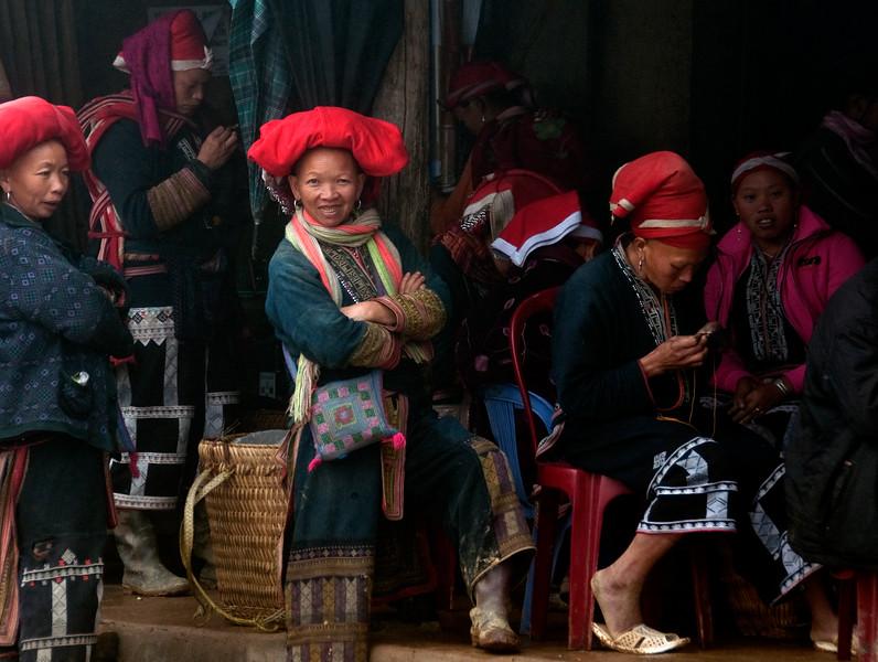 Red Dao women, Sa Pa, Vietnam