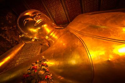 Reclining Buddha Temple in Bangkok, Thailand