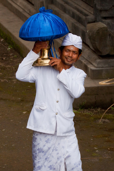 Balinese Man at Besakih Temple