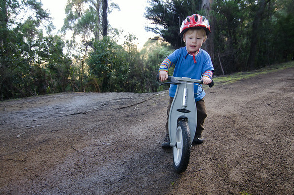 Forbes on his Firstbike