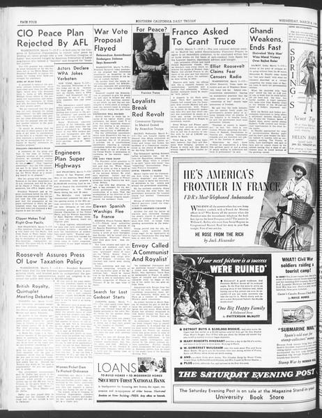 Daily Trojan, Vol. 30, No. 93, March 08, 1939