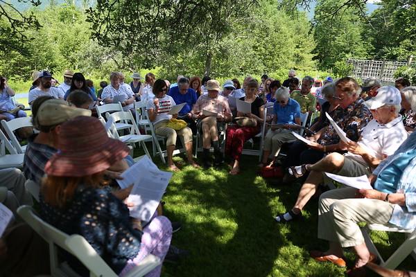 Federick Douglas speech reading at Hildene. 070419