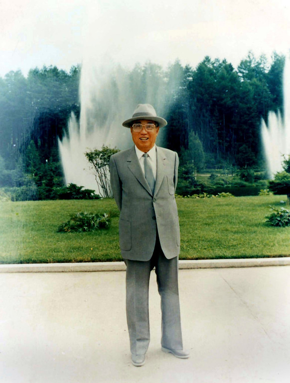 . In this undated photo from North Korea\'s official Korean Central News Agency, distributed by Korea News Service, Kim Il Sung shown in front of a fountain. (Korean Central News Agency/Korea News Service via AP Images)