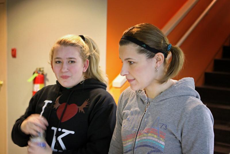 Kaya Chapas and Gina Strawn at the tournament desk..