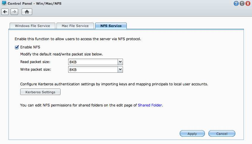 NFS in Synology