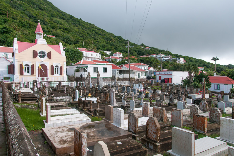 The Village of Windwardside on the Island of Saba