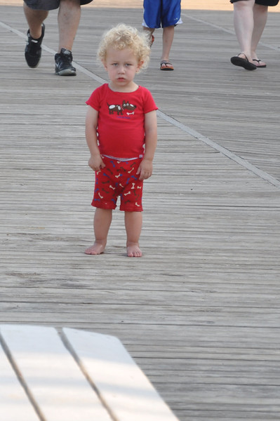Standoff on the boardwalk