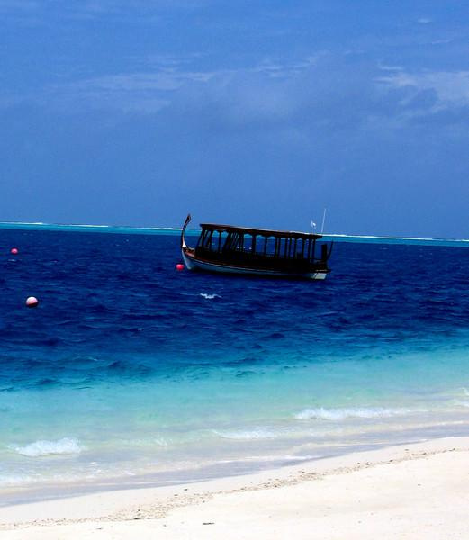 The dhoni ferry sets sail