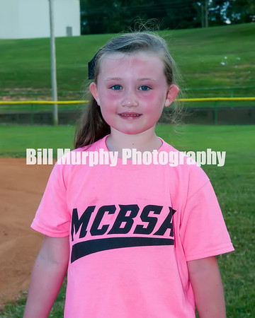2016 5-7 Softball Pink Team, June 14, 2016.