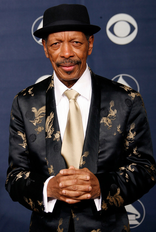 . Ornette Coleman, recipient of the lifetime achievement award, is poses for a photo at the 49th Annual Grammy Awards on Sunday, Feb. 11, 2007, in Los Angeles. (AP Photo/Kevork Djansezian)