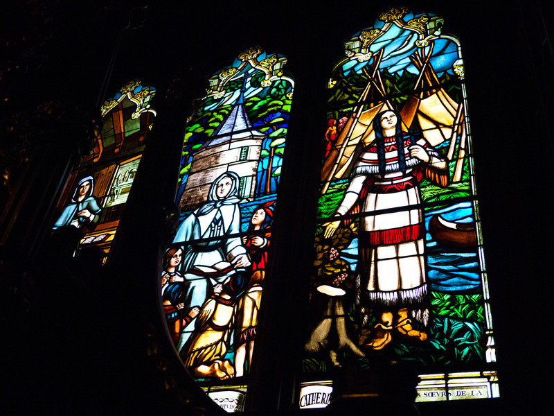Stained Glass Window at the Notre-Dame Basilica of Montreal