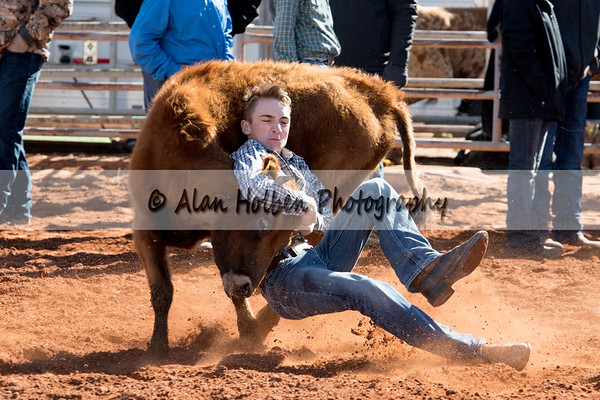 2018 Junior High Rodeo (Saturday) - Chute Dogging