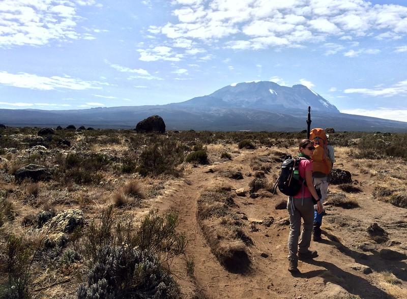 Off we go again. Over the Shira Plateau