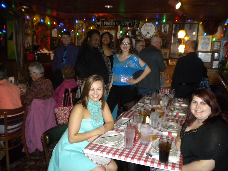 Engagement Party - Bucco di Beppo - Saturday, May 21, 2016.  Elizabeth, Mike Revis, Jaami Hunter, John Robert, Allison, Samantha