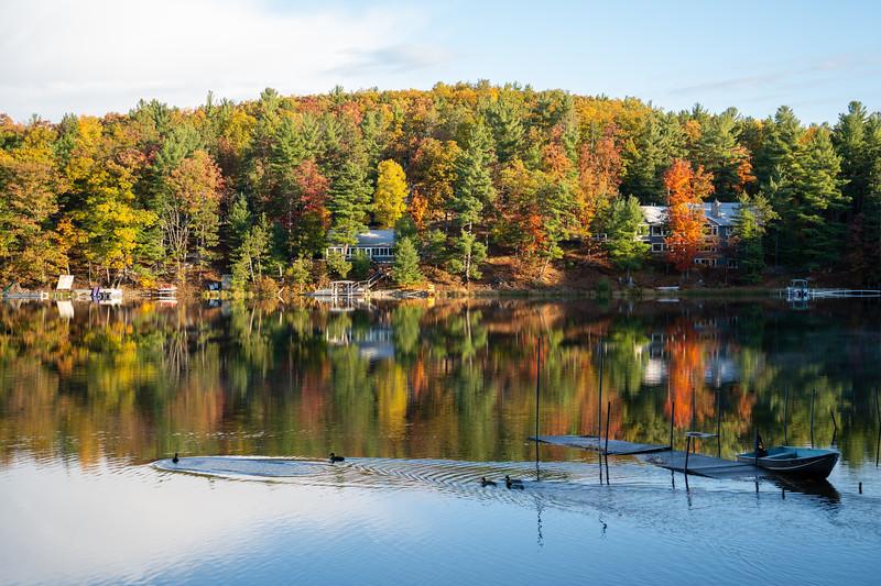 Lake Arbutus fall reflections