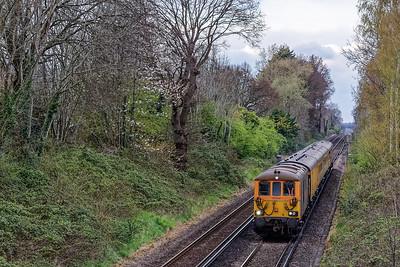 Class 73/9s on Test Train.