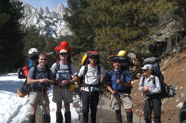 Mt. Whitney Mountaineers Route March 21-24, 2004