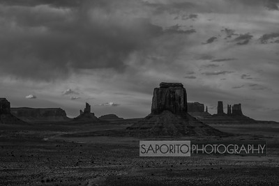 Monument Valley - Black and White