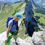 Arête SE 5b, Jamelle, Gastlosen alpine climbing