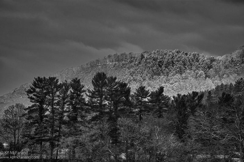 Mount Tom First Snowfall at Dawn