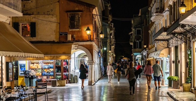 Late Night Shopping in Corfu Town
