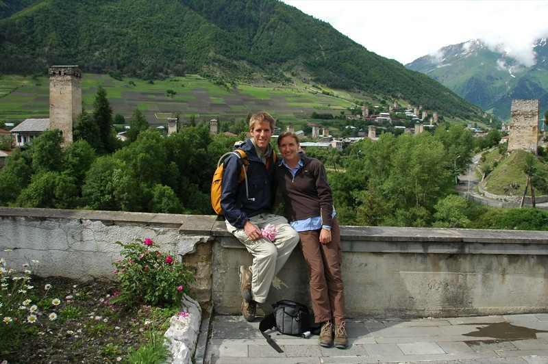 Dan and Audrey After a Hike - Svaneti, Georgia