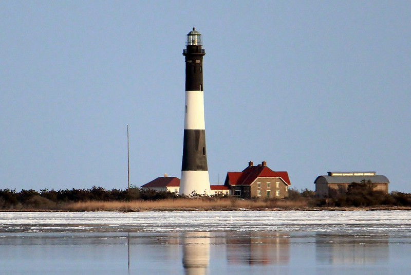 Fire Island lighthouse viewed from Captree State Park