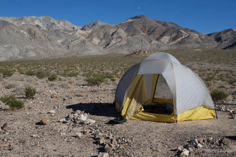 Our tent at the Racetrack Playa campground - Death Valley National Park, CA, USA
