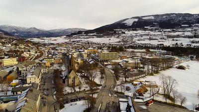 Voss sentrum vinter