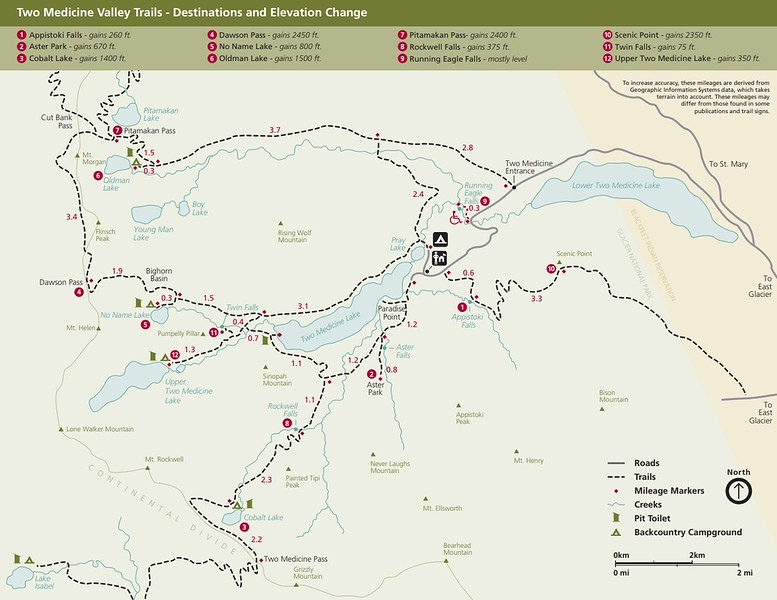 Glacier National Park (Two Medicine Valley Trails)