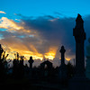 Sunset over Glasnevin Cemetery