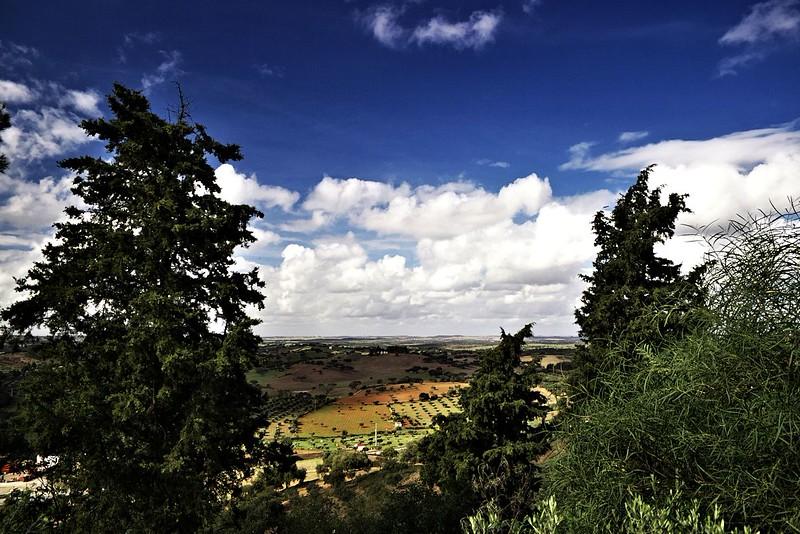 Výhled na okolí Ourique - zhruba západním směrem