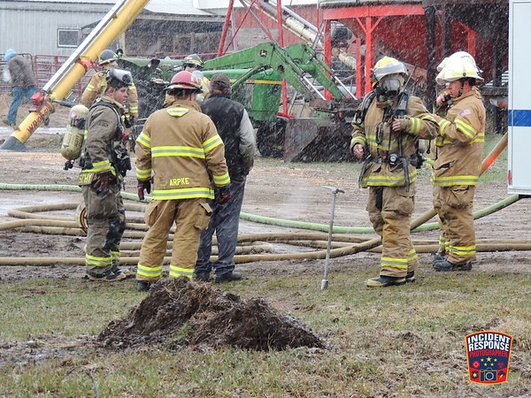Skid steer fire on March 23, 2016