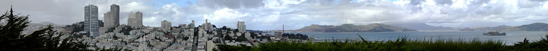 SF City pano from Coit Tower.