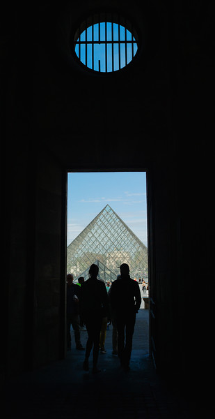 Entrance to the Louvre in Paris.
