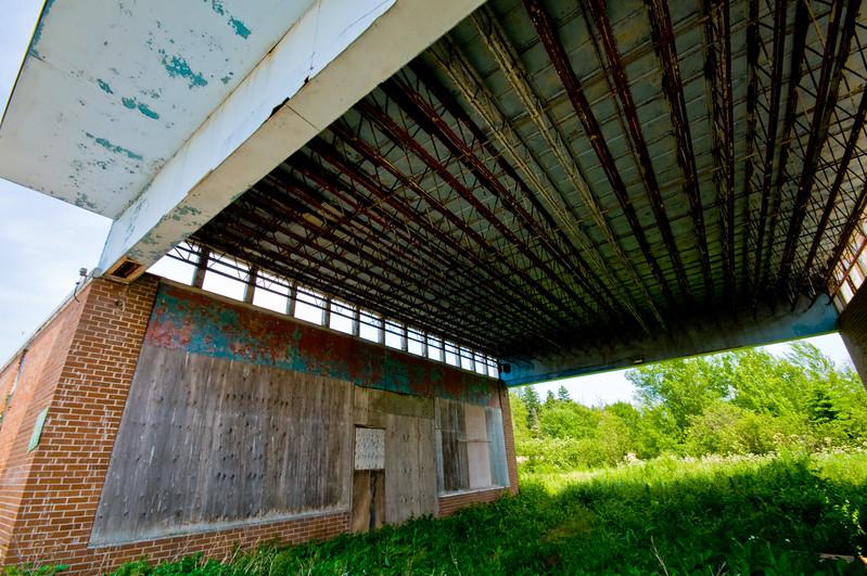 An abandoned restaurant