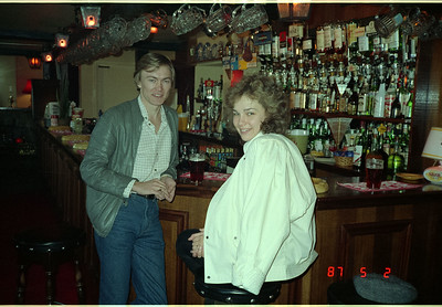 A Sales rep and his wife, the three of us  enjoying a pint of 'Bitter' in a typical English village 'Pub.'