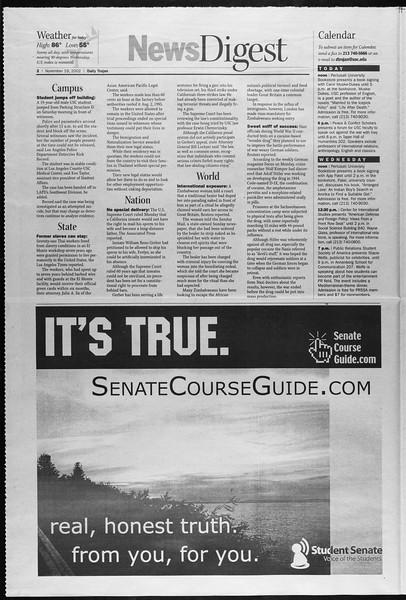 Daily Trojan, Vol. 147, No. 59, November 19, 2002