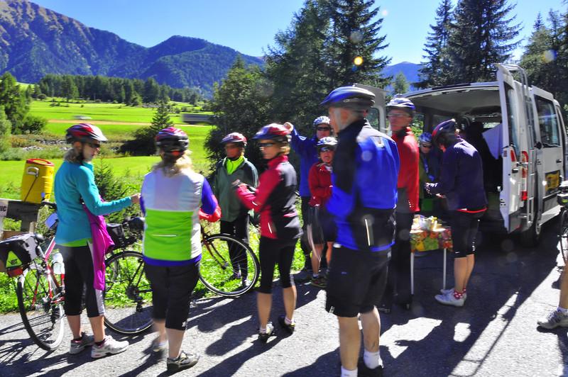 van stop in the Adige River valley