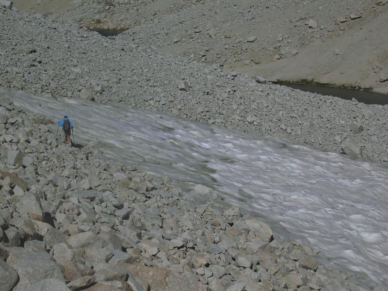 heading down the Arctic Lake drainage