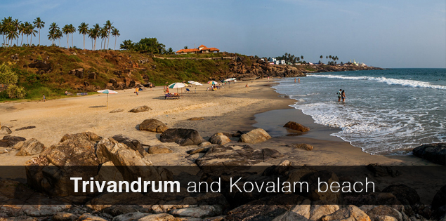 Day in Trivandrum and Kovalam beach, Kerala