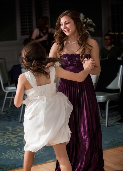 Bridesmaid and flower girl dancing.jpg