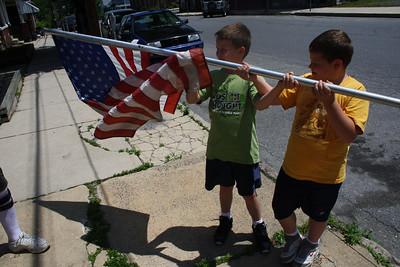 Lansford AMVETS take flags down, Lansford (5-30-2012)