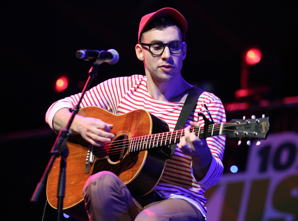 Description of . Musician Jack Antonoff of Fun. performs onstage during KIIS FM's 2012 Jingle Ball at Nokia Theatre L.A. Live on December 3, 2012 in Los Angeles, California.  (Photo by Christopher Polk/Getty Images for Clear Channel)