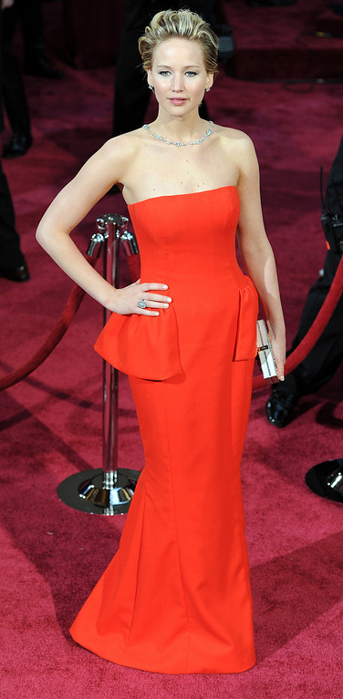 . Jennifer Lawrence attends the 86th Academy Awards at the Dolby Theatre in Hollywood, California on Sunday March 2, 2014 (Photo by John McCoy / Los Angeles Daily News)