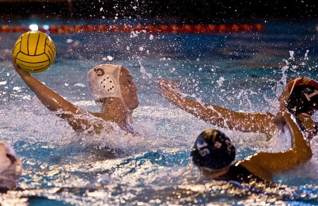 . Girls Water Polo semifinals La Serna vs. Bonita, Division 4, at Pomona College on Wednesday, Feb. 20, 2013. La Serna won 10-9. (SGVN/Staff photo by Watchara Phomicinda)