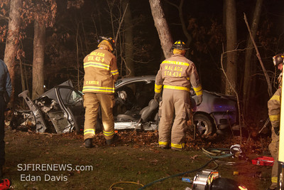 11-24-2011, MVC With Entrapment, Franklin Twp, Gloucester County, Dutch Mill Rd. and Chestnut Ave.