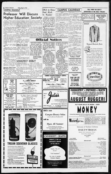 Daily Trojan, Vol. 55, No. 119, May 15, 1964
